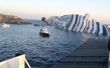 naufragio nave Costa Concordia 14 gennaio 2012